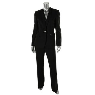 Tahari ASL Womens Liam Textured Lined Pant Suit - 2