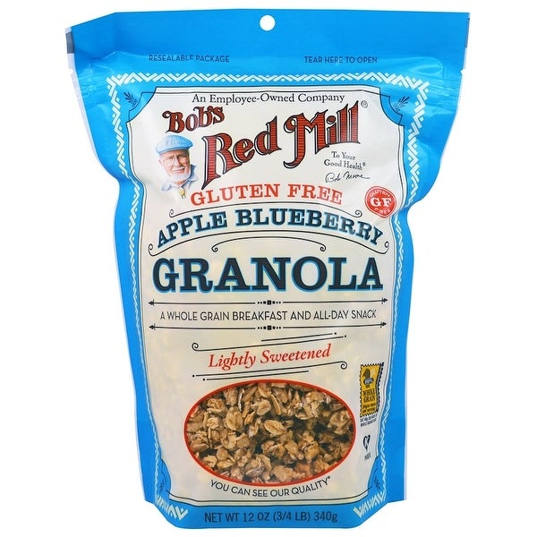 Bob's Red Mill Gluten Free Apple Blueberry Granola - 12 oz - Case of 4