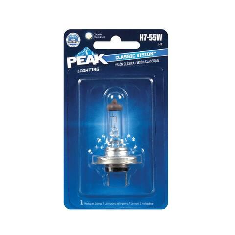Peak H7-55W-BPP Automotive Classic Vision Halogen Lamp, 12.8 V