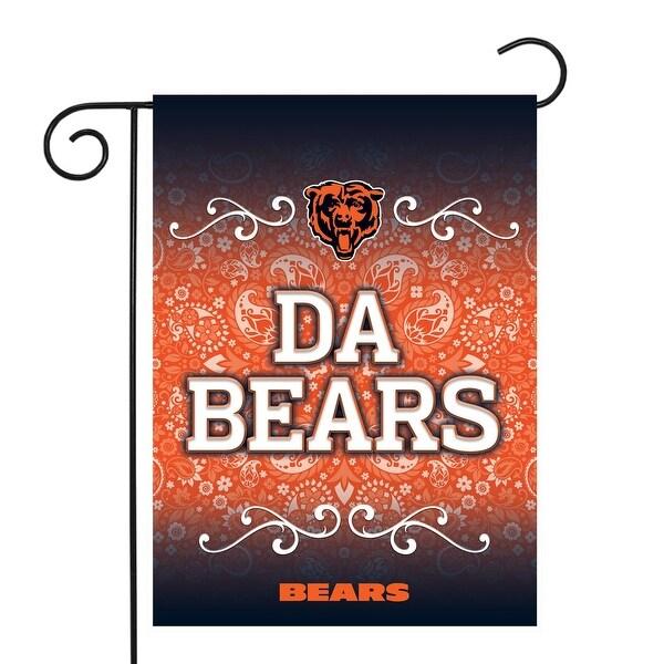"18"" x 13"" Orange and Black NFL Chicago Bears Outdoor Garden Flag - N/A"
