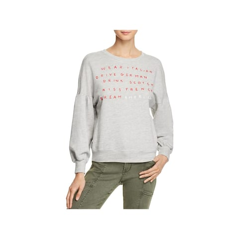 Sundry Womens Sweatshirt Graphic Crew Neck