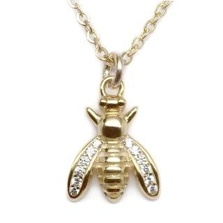 Julieta Jewelry Bee CZ Charm Necklace