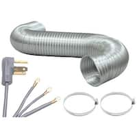 Pet90-1024 Dryer Connection Bundle With 5Ft Ducting & 3-Wire Cord