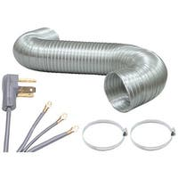 Vena0459 Dryer Connection Bundle With 5Ft Ducting & 4-Wire Cord