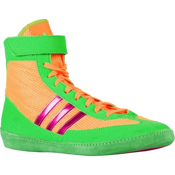 Adidas Combat Speed 4 Wrestling Shoes - Solar Gold/Solar Lime/Metallic Pink