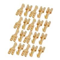 Unique Bargains 20 Pcs Brass Female Spade Cable Terminals for 6.3mm Connectors
