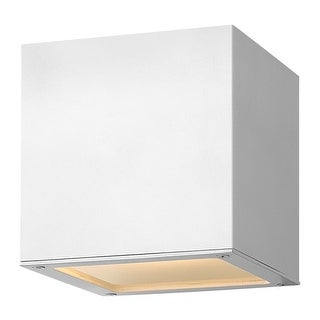 "Hinkley Lighting 1766-LED 6"" Height Dark Sky LED Outdoor Wall Sconce with Square Shade from the Kube Collection"