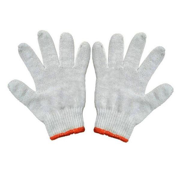 Cotton Yarn Universal Protection Work Gloves 22cm Raw White