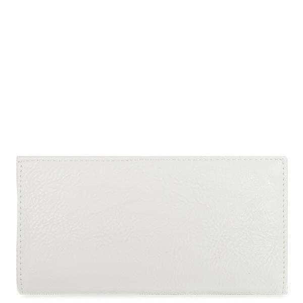 "7.25"" White Rectangular Vegan Leather Wallet. Opens flyout."