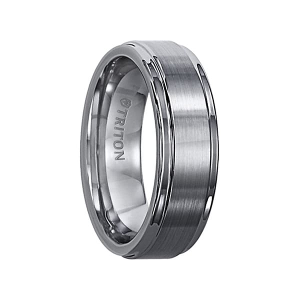 stainless listing brushed fit steel rings il band wedding comfort mens