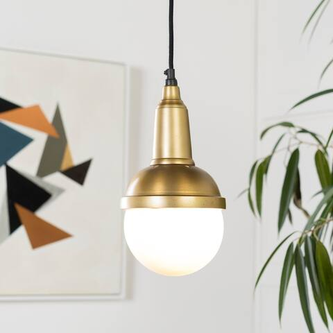 Phaidra Modern Gold 1-Light Pendant Lighting Fixture