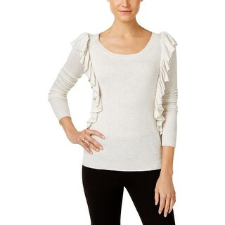 Marled Reunited Clothing Womens Blouse Scoop-Neck Heathered - xL