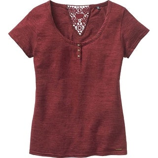 Legendary Whitetails Ladies Red Rock Short Sleeve Henley