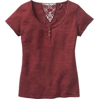Legendary Whitetails Ladies Red Rock Short Sleeve Henley - red rock