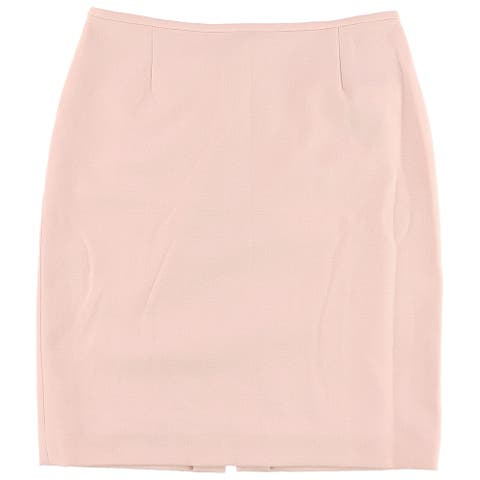 Tahari Womens Textured Pencil Skirt, pink, 4P
