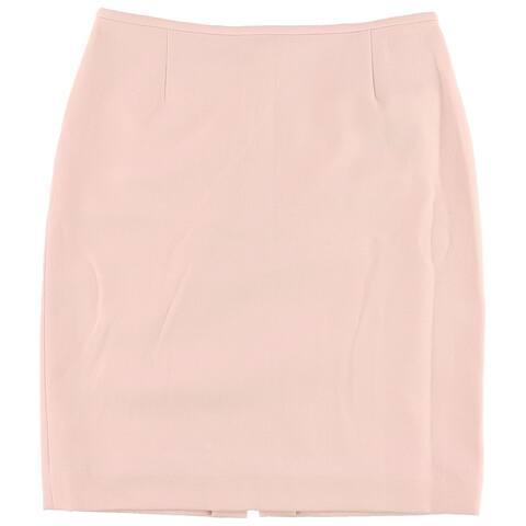 Tahari Womens Textured Pencil Skirt, pink, 4P