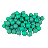 "96ct Seafoam Green Shatterproof 4-Finish Christmas Ball Ornaments 1.5"" (40mm)"