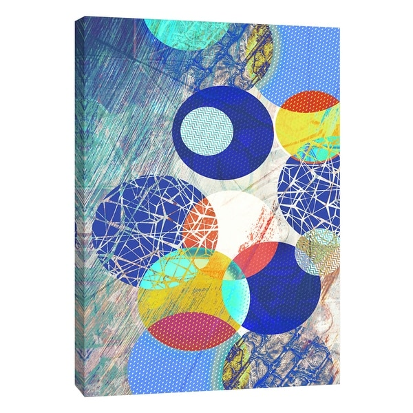 """PTM Images 9-109112 PTM Canvas Collection 10"""" x 8"""" - """"Patterned Circles 1"""" Giclee Abstract Art Print on Canvas"""