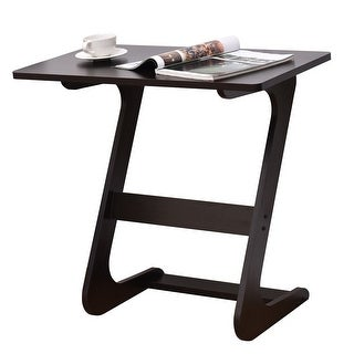 Costway Sofa Table End Side Table Console Snack TV Coffee Tray PC Laptop Desk Z-Shape