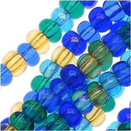Czech Seed Beads 6/0 Lagoon Mix Blue Aqua (1/2 Hank)