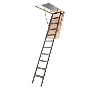 Fakro 66867 LMS Metal Insulated Attic Ladder, 350Lbs
