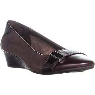 Hush Puppies Candid Pump Wedge Ballet Flats, Dark Brown - 11 us / 43 eu