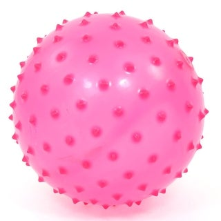 5.5  Diameter Body Fitness Stress Relief Spiky Massage Ball Magenta