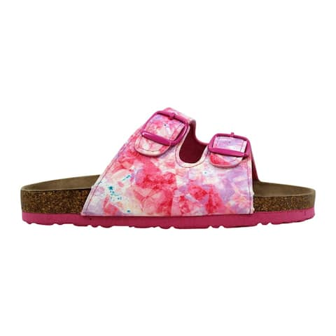 Northside Pre-School Mariani Sandal Pink White/Brown 214031G678