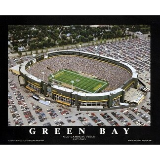 6eadfb1e ''Green Bay, Wisconsin - Old Lambeau Field'' by Brad Geller Stadiums Art  Print (22 x 28 in.)