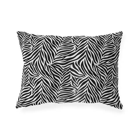 ZEBRA PRINT Indoor Outdoor Lumbar Pillow By Kavka Designs - 20X14