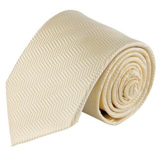 Jacob Alexander Men's Tone on Tone Herringbone Extra Long Neck Tie - One size