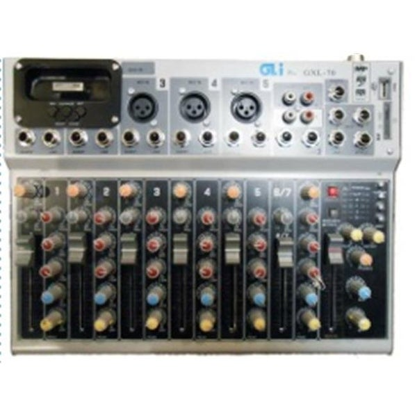 GLI GXL-70 7 Channel Studio Mixer with iPod Dock