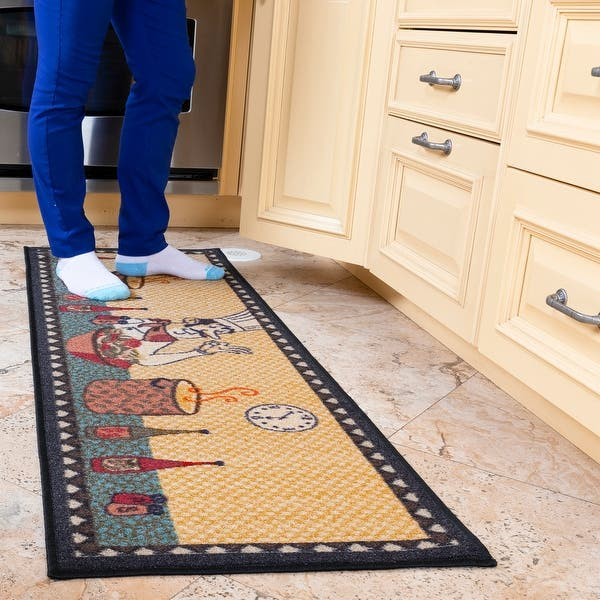 Siesta Peppers Wine Fruits Chef Rooster Coffee Theme Kitchen Runner Rug On Sale Overstock 10235194