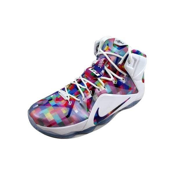 info for 00f5b 6bc30 Nike Men  x27 s Lebron XII 12 EXT Multi-Color University Red