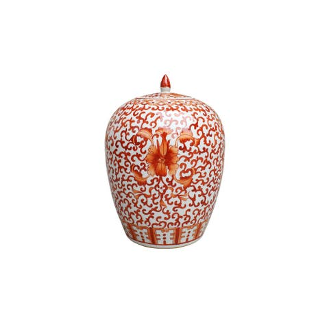 Handmade Twisted Lotus Ginger Decorative Jar