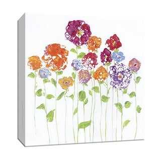 "PTM Images 9-147190  PTM Canvas Collection 12"" x 12"" - ""Pretty Posies I"" Giclee Flowers Art Print on Canvas"