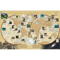National Geographic RE00620110 World Of National Geographic Map