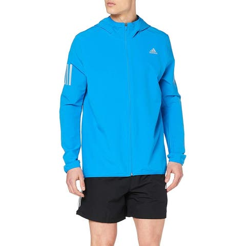 Adidas Mens Activewear Jacket Blue Medium M Full-Zip Running Athletic