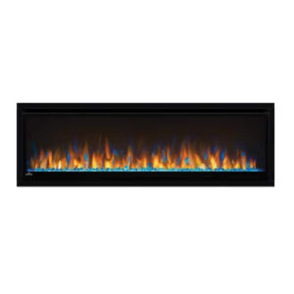 "Napoleon NEFL50CHS Alluravision 5000 BTU 50"" Wide Slimline Wall Mounted Electric Fireplace - Black"