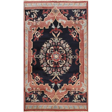 """Traditional Aubusson Chinese Oriental Area Rug Handmade Wool Carpet - 6'0"""" x 9'2"""""""