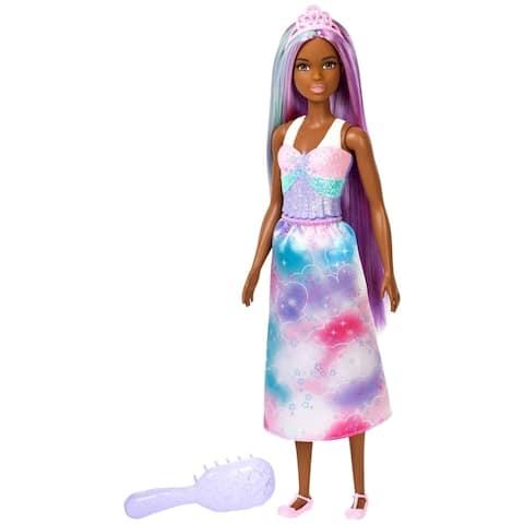 Barbie Dreamtopia Rainbow Cove Princess Doll Purple Extra Long Hair Color Hairbrush Mattel