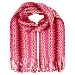 Missoni D4911 Wool Blend Crochet Knit Wave Scarf