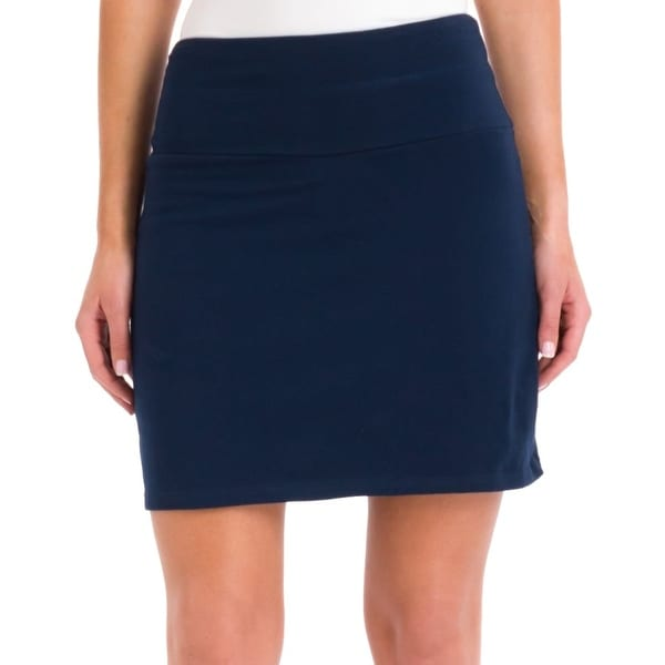 aec5b6d3f9083 Shop Teez-Her NEW Blue Women s Size Medium M Tummy Control Low Waist Skort  - Free Shipping On Orders Over  45 - Overstock.com - 19663035