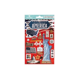Paper House Sticker 3D Destinations United States