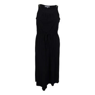 NY Collection Women's Jersey Embellished Dress - Black - l