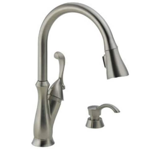 Delta 19950-SSSD-DST Arabella Single Handle Pulldown Kitchen Faucet, 24""