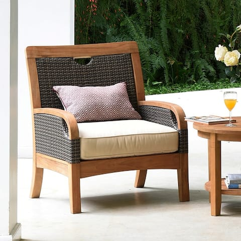 Cambridge Casual Palma Teak Outdoor Lounge Chair with Cushion