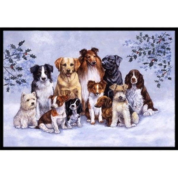 Carolines Treasures BDBA316AMAT Winter Dogs Indoor or Outdoor Mat 18 x 27