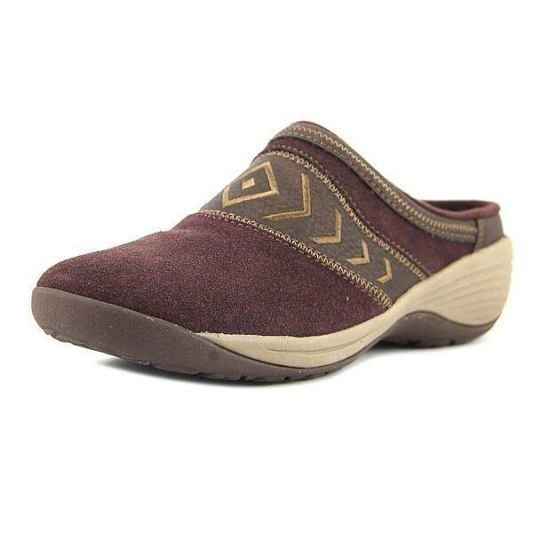 Easy Spirit Ikatta Women N/S Round Toe Suede Burgundy Loafer
