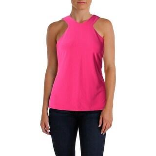 Lauren Ralph Lauren Womens Blouse Matte Jersey Sleeveless